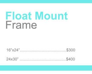 float mount - wedding photography